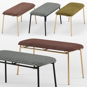 3D fifties bench - calligaris model