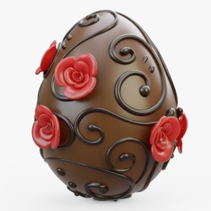 3D decorated chocolate
