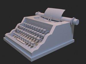 typewriter basic 3D