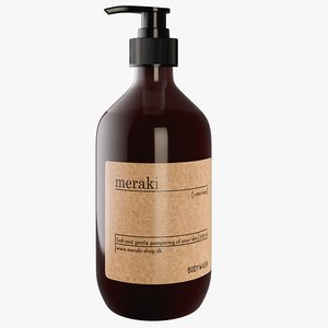 3D realistic meraki body wash model