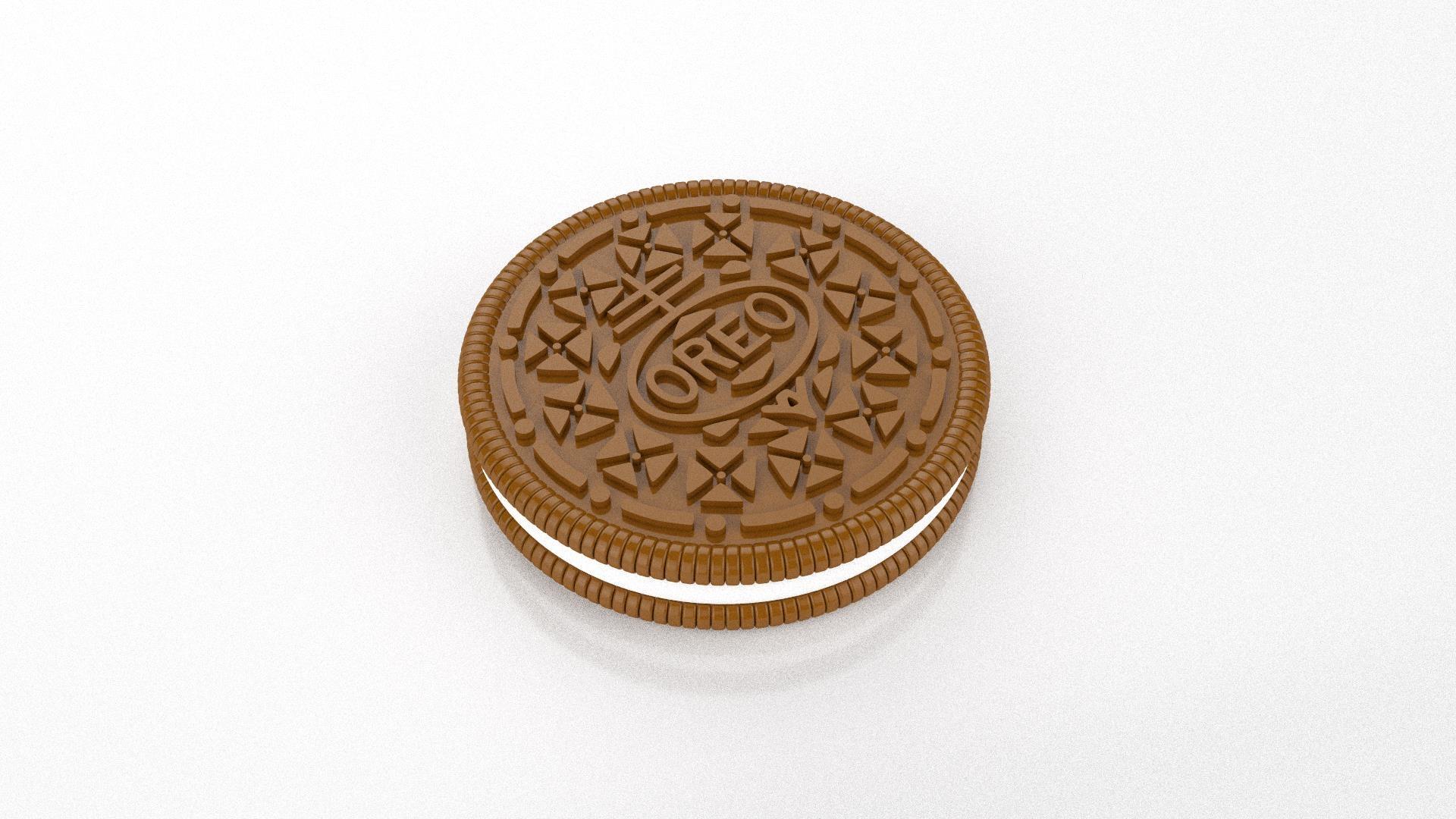 oreo biscuit 3D model