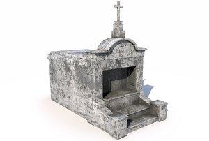 3D mausoleum - model