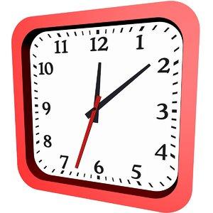 wall clock 8 3D model