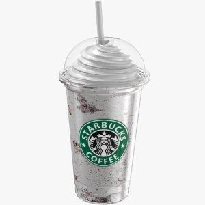 starbucks vanilla chocolate frappuccino 3D model