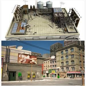 buildings roof 3D model
