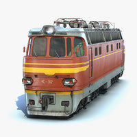 ready locomotive chs4 3D model