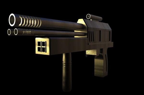 3D ready futuristic gun model