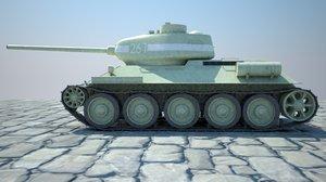 3D soviet tank t-34-85