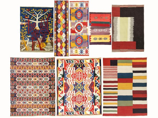 3D vintage turkish kilim rugs