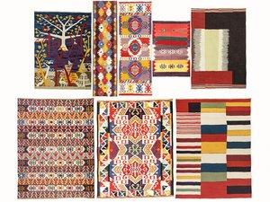 3D vintage turkish kilim rugs