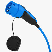 3D ev charging plug model