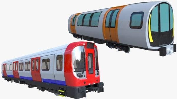 london underground glasgow metro train 3D