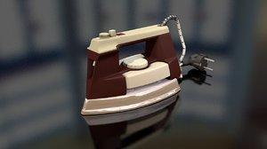 retro clothes iron 3D model