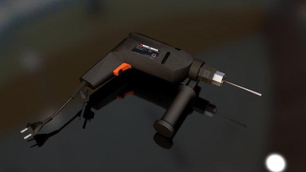 3D black decker driller model