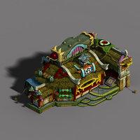 3D gang building - advanced model