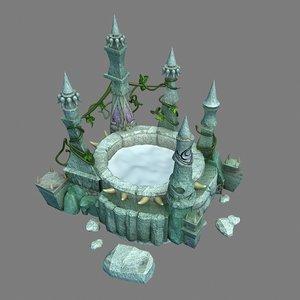 3D gangs demon cave - model