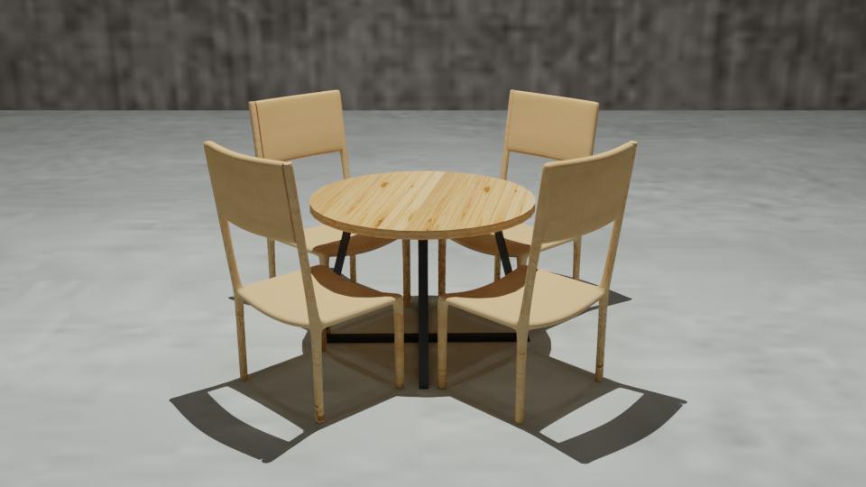 modern cafe chair 3D