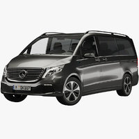 3D model mercedes-benz v-class eqv 2020