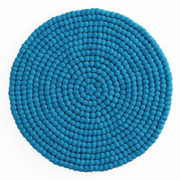 ball wool felt carpet 3D model