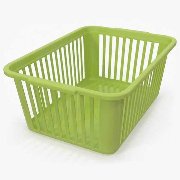 plastic handy basket green model