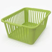 plastic handy basket green model