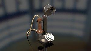 vintage old candlestick telephone 3D model