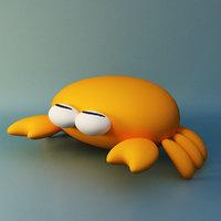cartoon crab toon 3D model