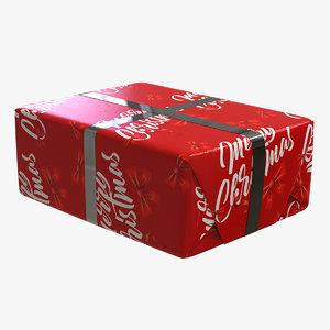 gift christmas box v1 3D model