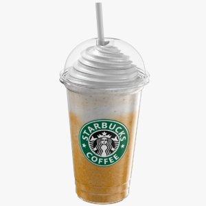 3D iced coffee