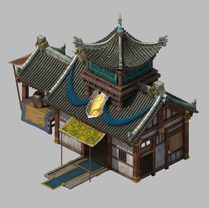 3D city - building armor model