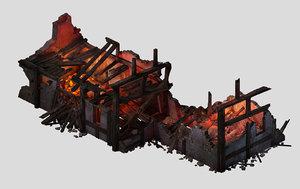 3D burned houses 01