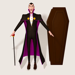 cartoon dracula 3D