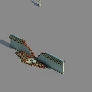 grass temple village - 3D model