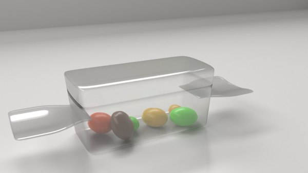 3D acrylic candy shape container