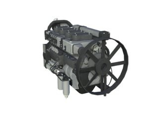 4 stroke engine gas 3D model