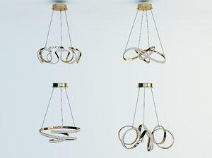 fashion curve chandelier 3D model