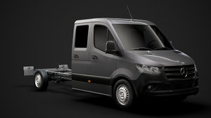 mercedes sprinter chassis crew 3D