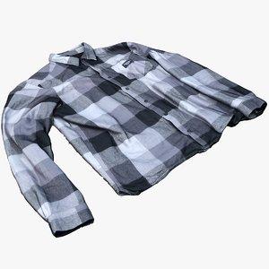 3D model flanell shirt