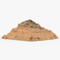tomb henutsen pyramids 3D model