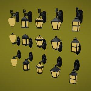 street holder lamp - 3D