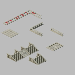 city building - staircase 3D model