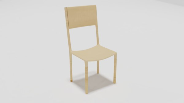 minimalist chair 3D model