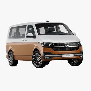 3D 2020 volkswagen transporter t6 model