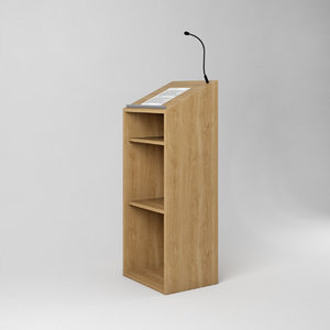 3D wooden speakers desk podium model