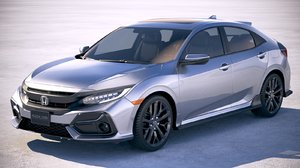 3D model honda civic hatchback