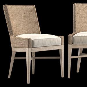 marisol seagrass chair cushion 3D model