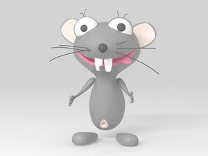 mouse character 3D model