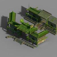 3D dazhufeng - bamboo house