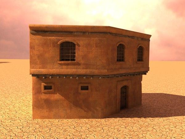 3D model house arabian