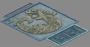 underground - palace surface 3D
